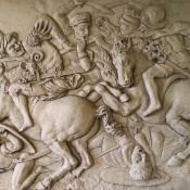 Battaglia di Anghiari, gesso, 180x125 cm, 2017 (1)