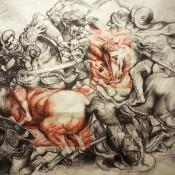 Battaglia di Anghiari, grafite e sanguigna, 180x125 cm, 2017 (1)